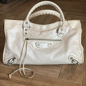 Balenciaga White Purse